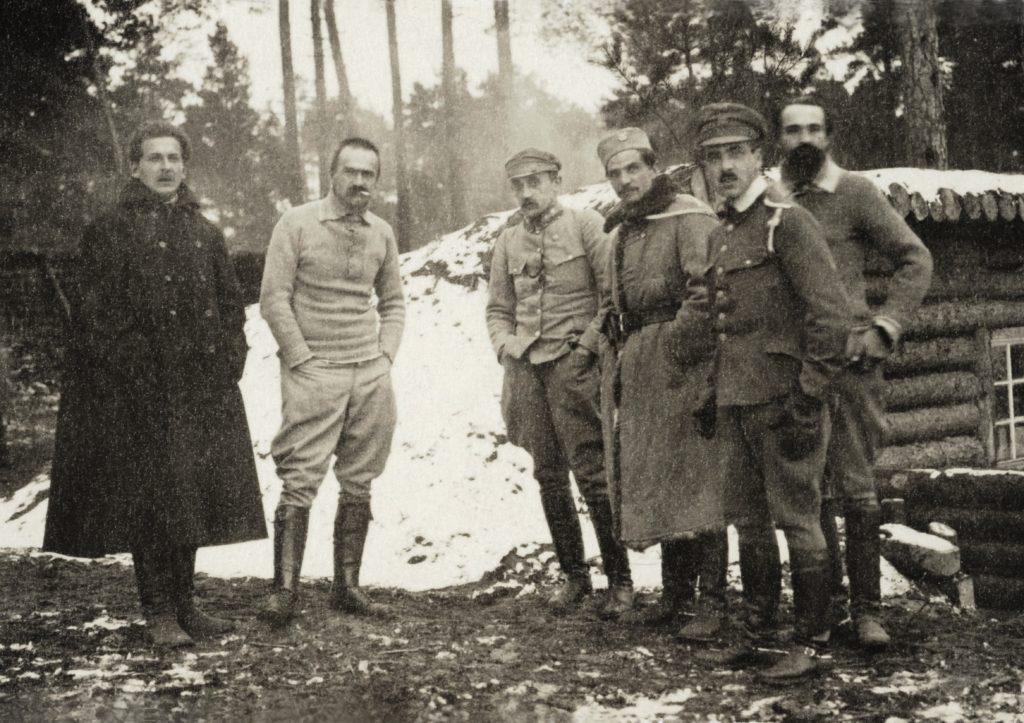 Legiony Polski. Józef Piłsudski i oficerowie I Brygady