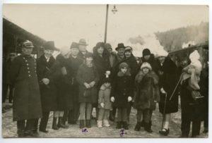 Marszałkowa Piłsudska z córkami - zima w Krynicy