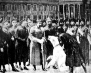 Piłsudski i Baśka na placu Saskim