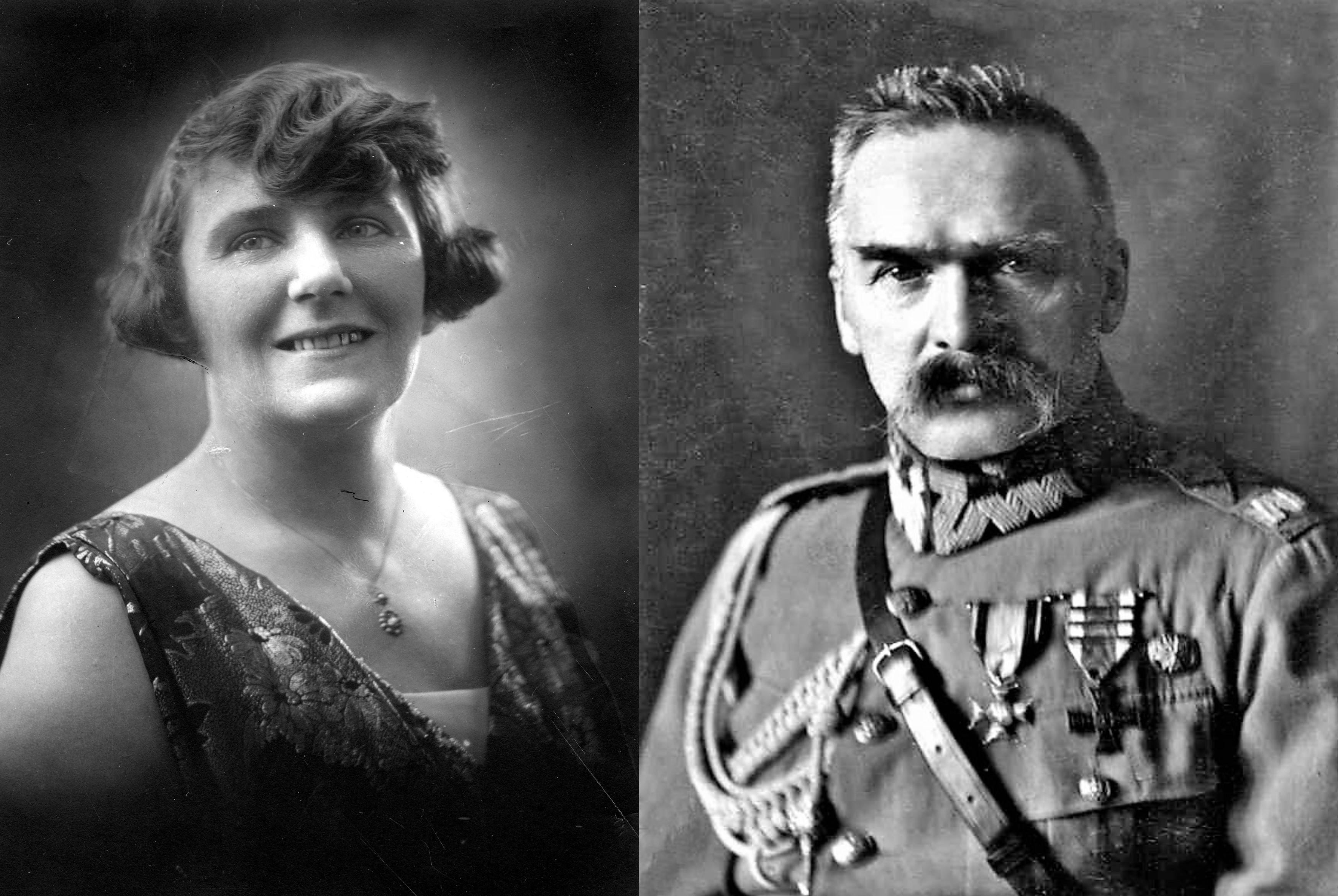Portrety Zofii Nałkowskiej i Józefa Piłsudskiego z lat 20. XX w.