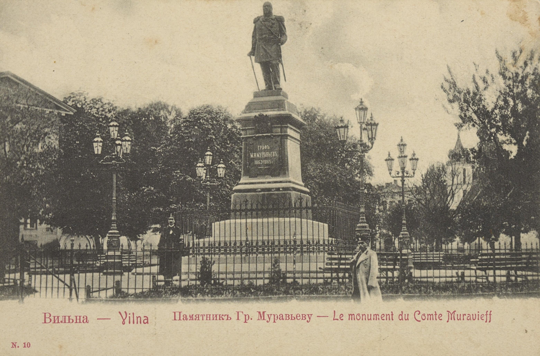 zdjęcie pomnika Wieszatiela w Wilnie
