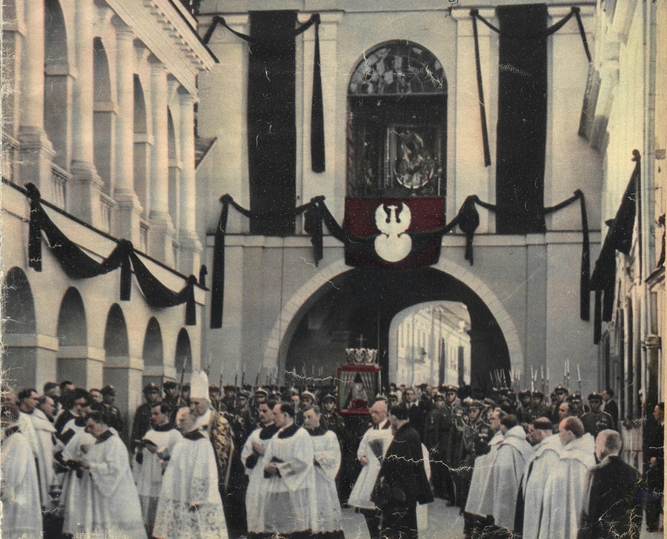 Pogrzeb serca Marszałka niesionego w lektyce - Ostra Brama, Wilno