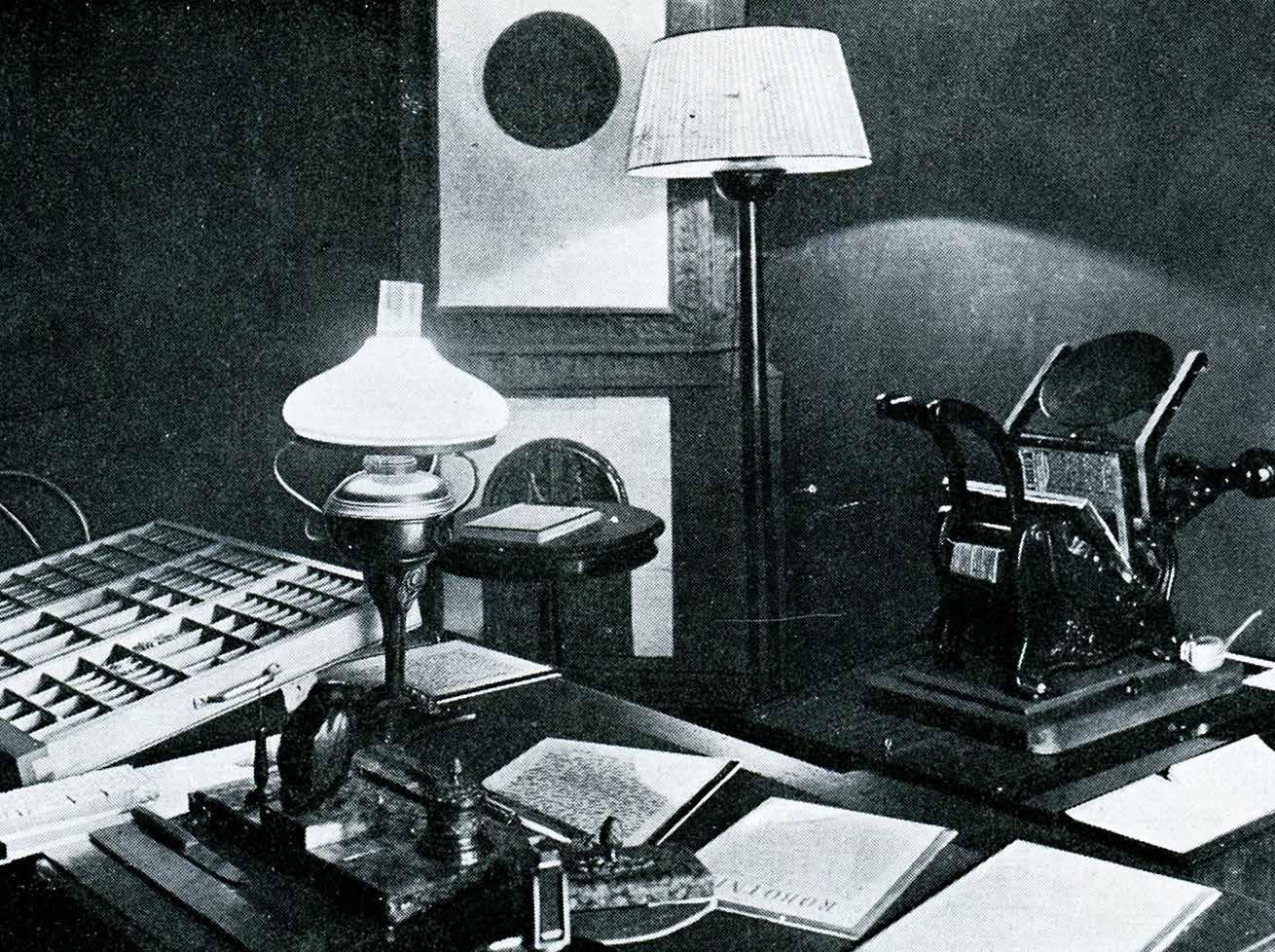 """W latach 30. XX w. zrekonstruowano wygląd pokoju, w którym drukowano """"Robotnika"""
