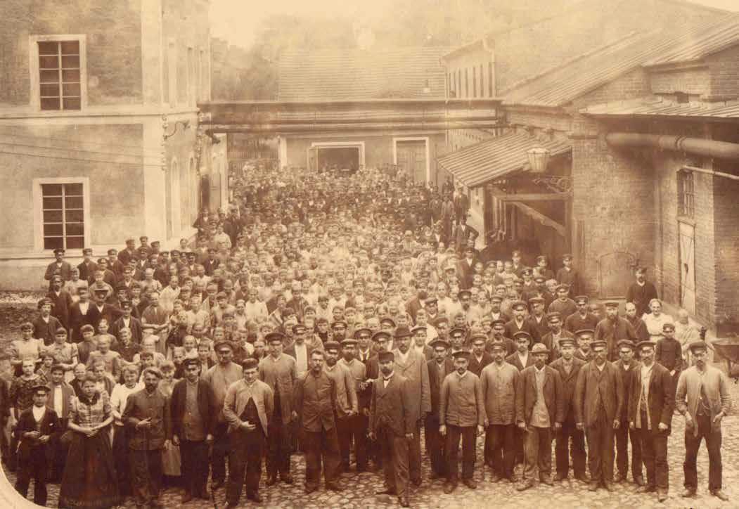 Strajk robotników w 1892 r., ze zbiorów Archiwum Państwowego w Łodzi