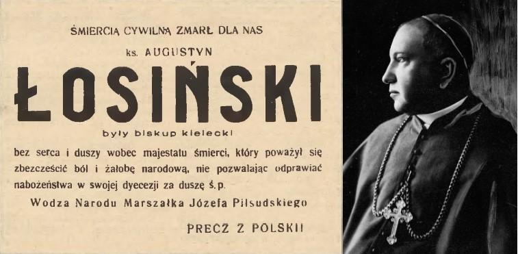 fałszywy nekrolog biskupa Łosińskiego