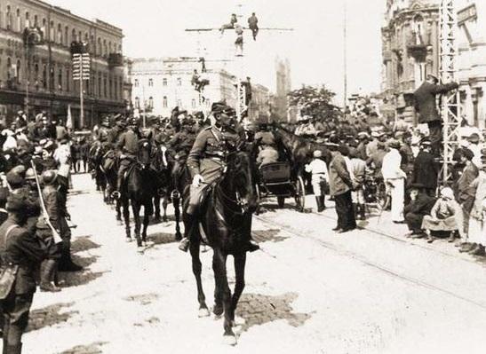 Parada polskiej armii w Kijowie, 1920