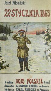 """okładka książki """"22 stycznia 1863 roku"""" autorstwa Józefa Piłsudskiego"""