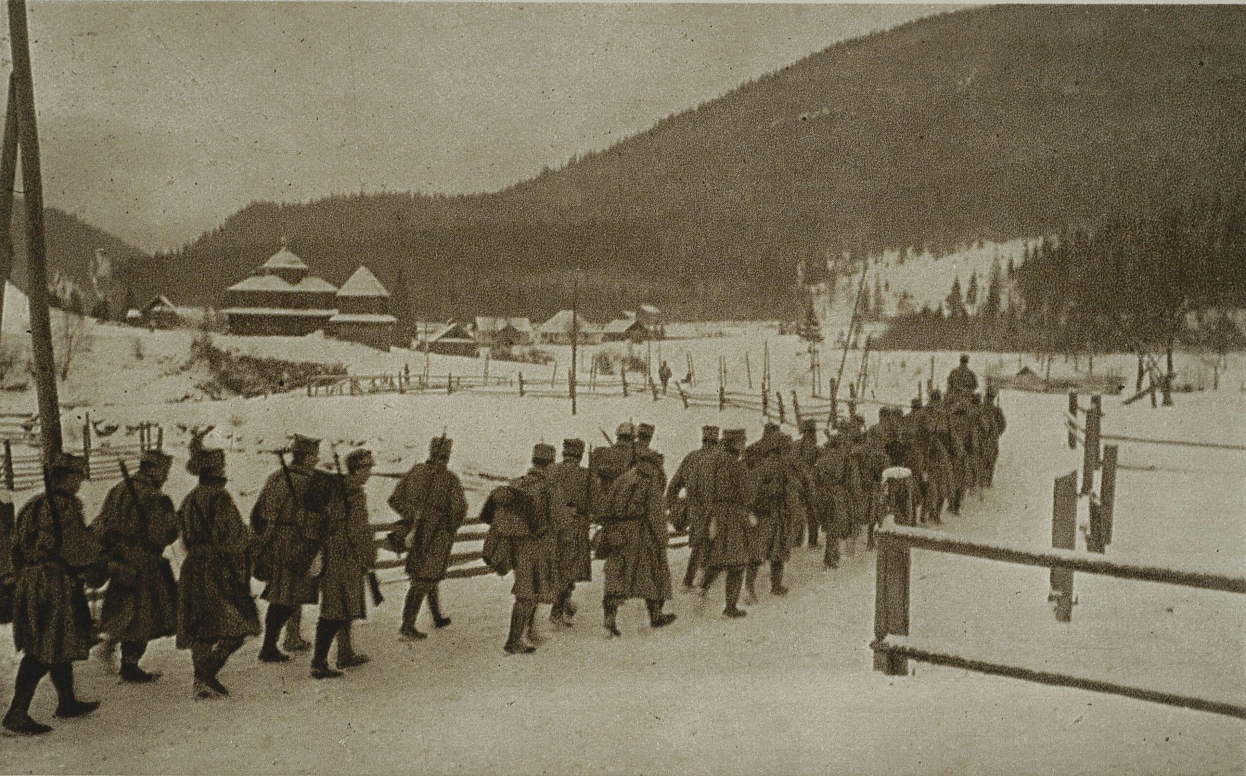 Żołnierze II Brygady. Zdjęcie Stanisława Janowskiego.