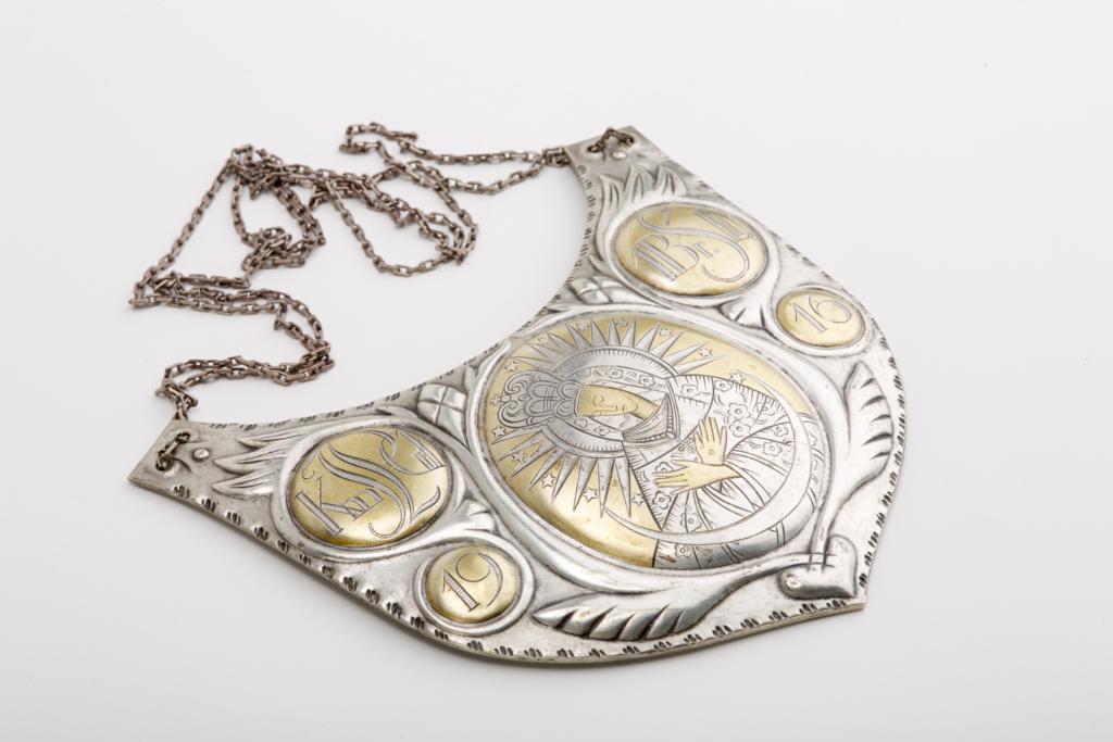 Ryngraf z Matką Boską Ostrobramską - prezent od oficerów legionowych z 1916 r.