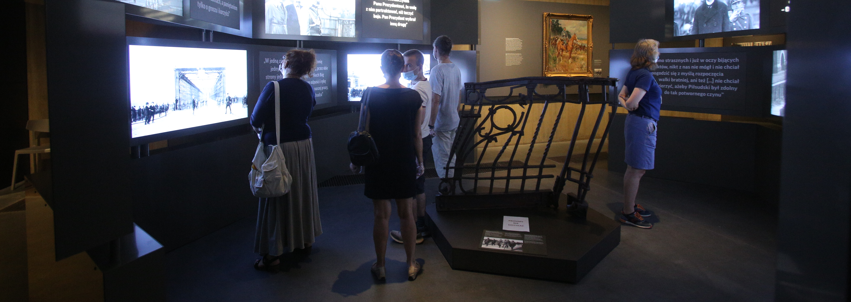 bariera Mostu Poniatowskiego na wystawie stałej Muzeum