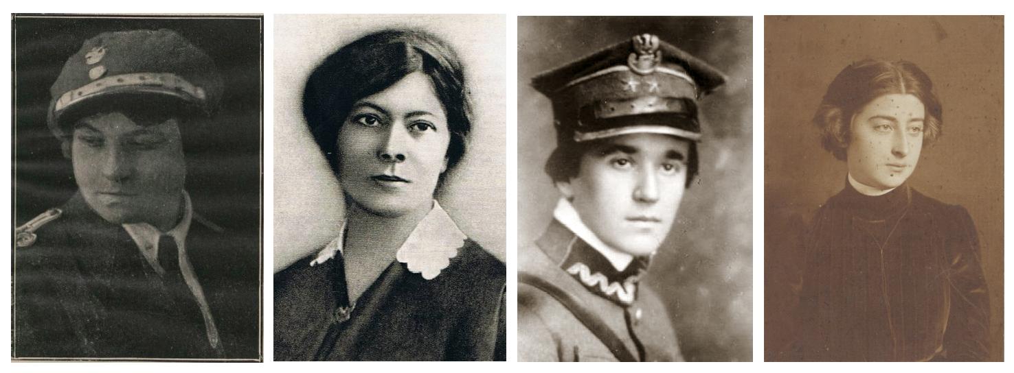 Zdjęcia portretowe: Helena Jurgielewiczowa, Konstancja Jaworowska, Wanda Gertzówna, Zofia Zawiszanka